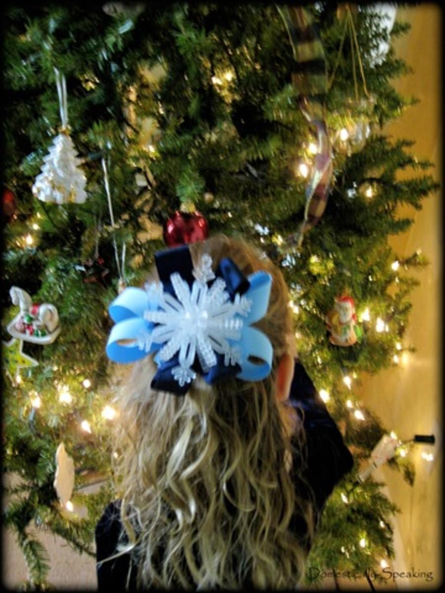 snow flake hairbow