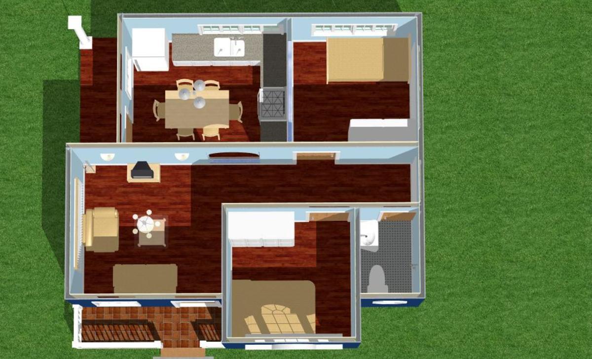 House Design Hernanie Ocean Blue