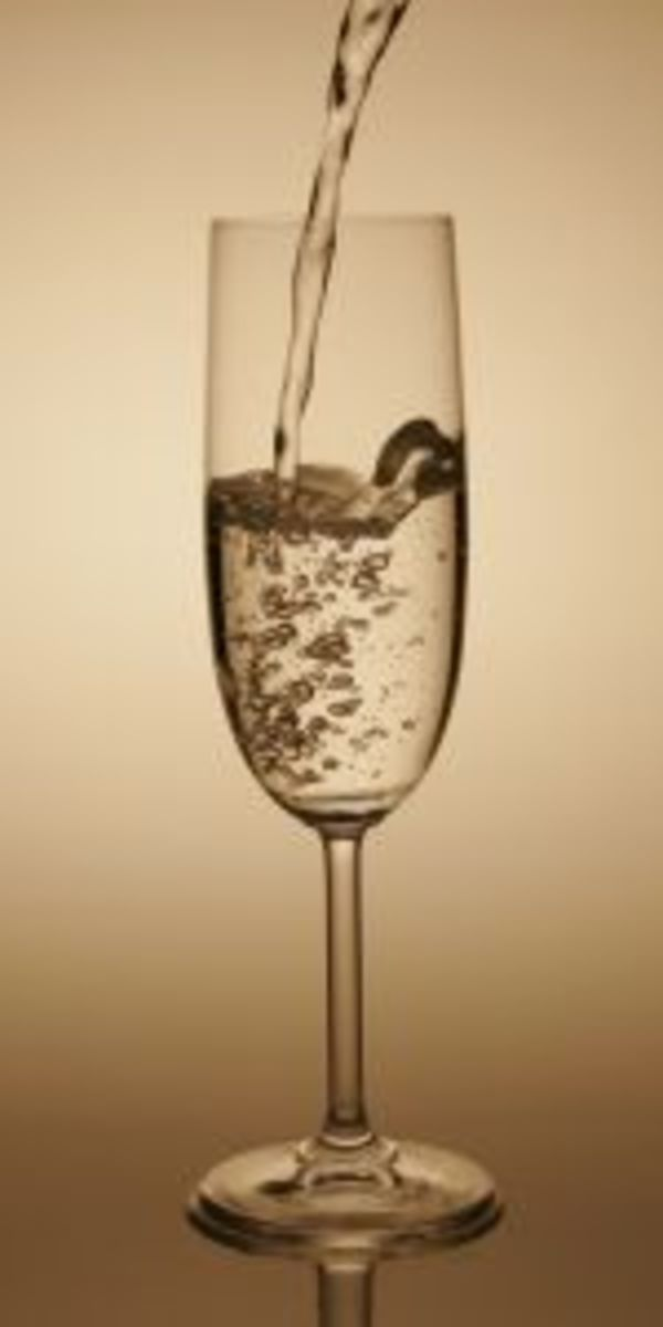 Champagne flutes preserve the bubbles.