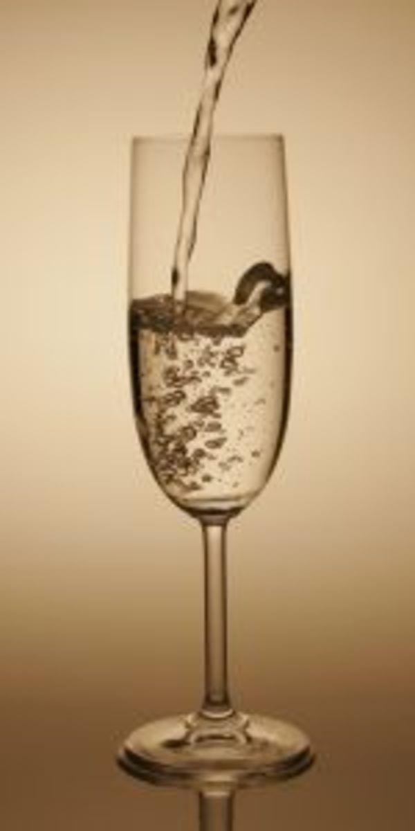 Champagne flutes preserve the bubbles.
