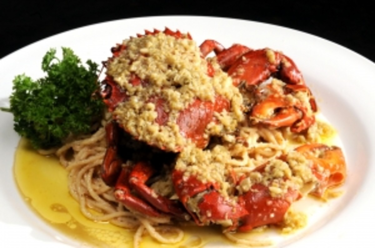 Pasta w/ crab by Than