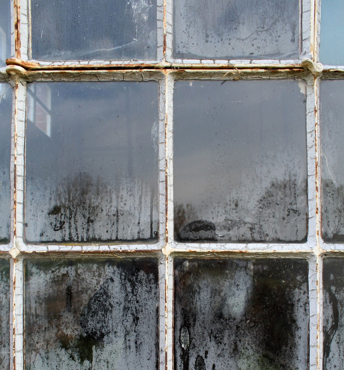 Can you see the 'ghost' in this old window?  You might even see two!