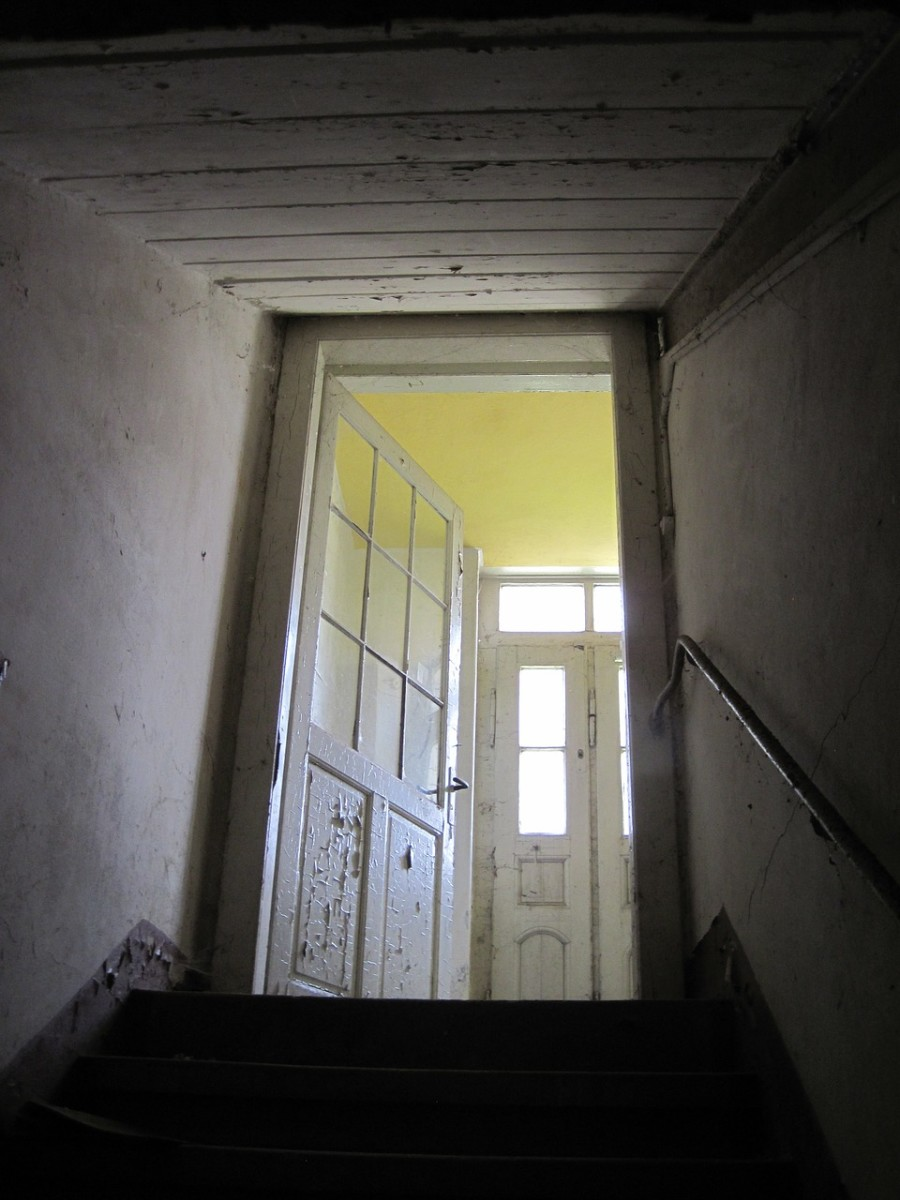 Old houses settling can make doors appear to open or close on their own, or creak when opening or closing