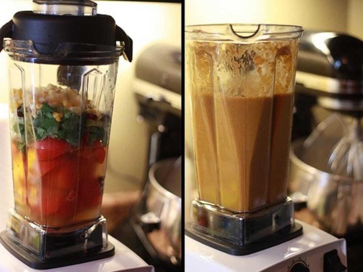 Make soup in your Vitamix blender