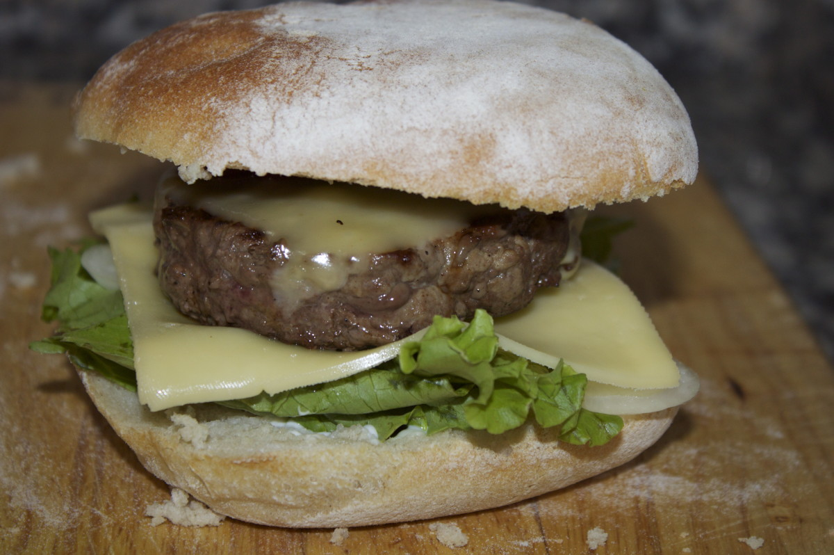 Homemade Cheese Burger