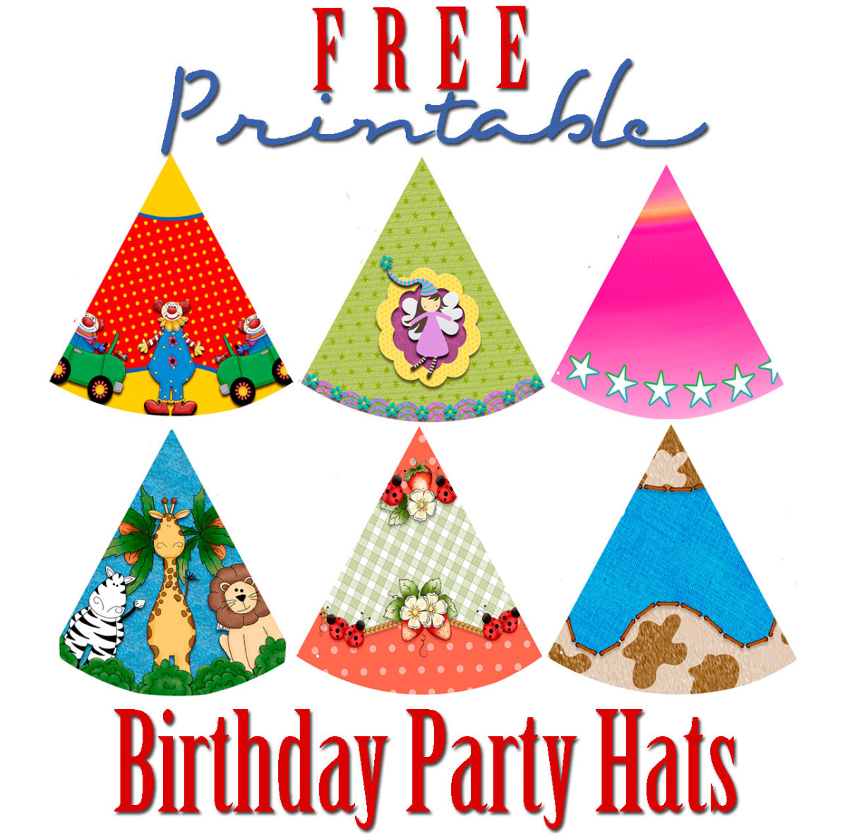 This is a graphic of Universal Party Hat Printable
