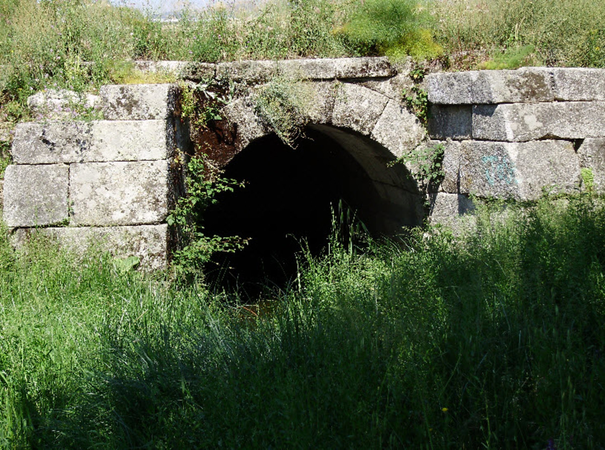 Remains of a Roman Sewer in Spain
