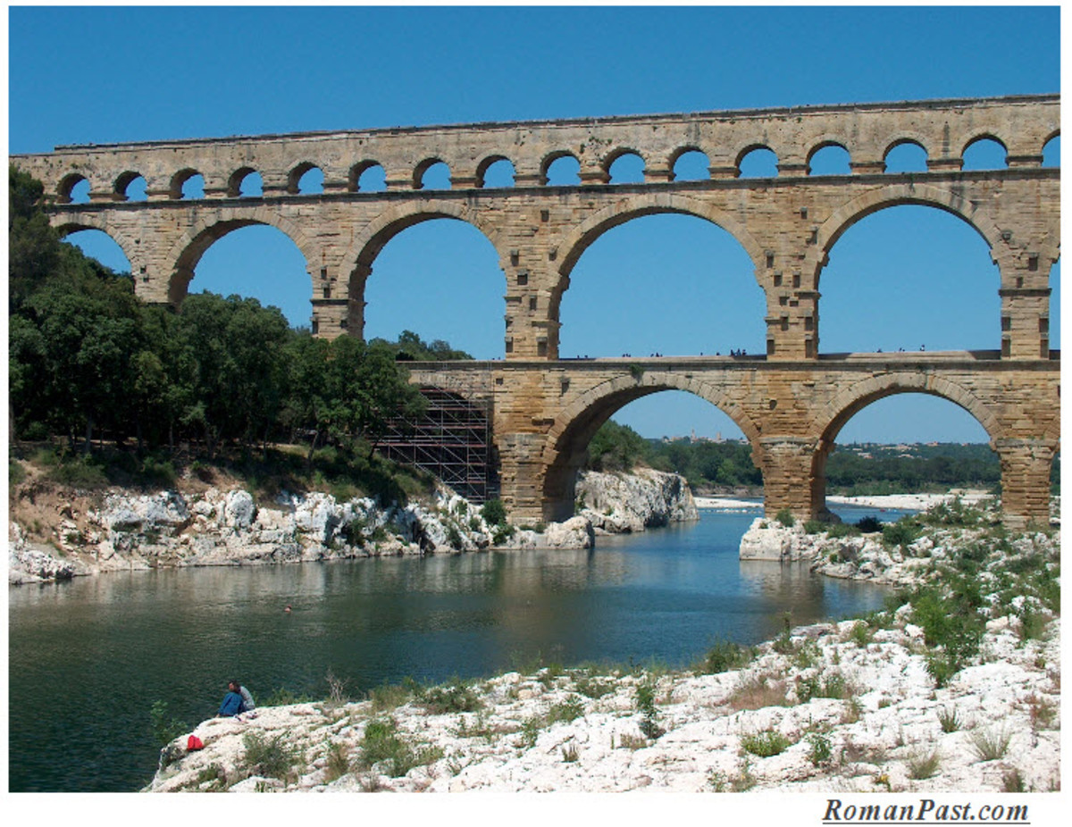 A Roman Aqueduct at Pont du Gard, France