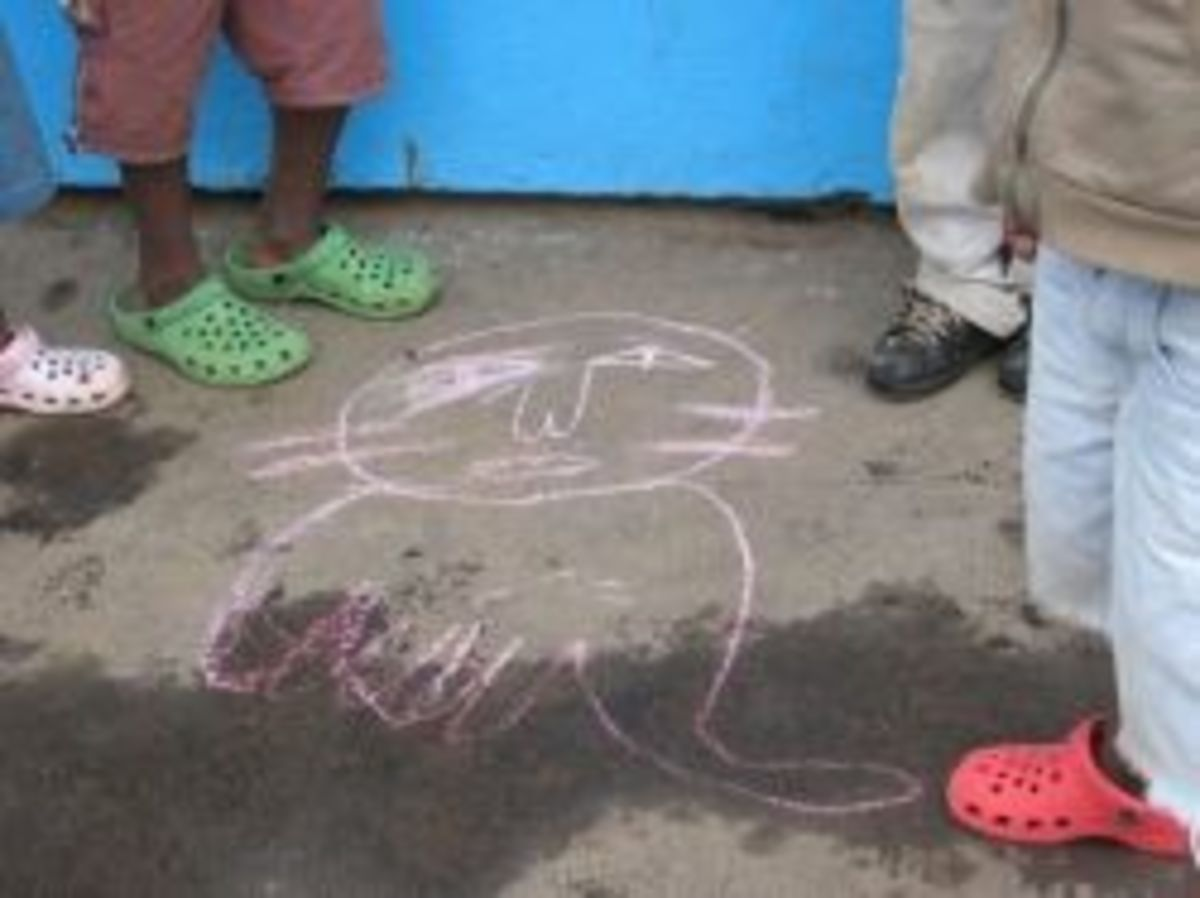 The Kids in the Orphange like to flock the Ferenge.