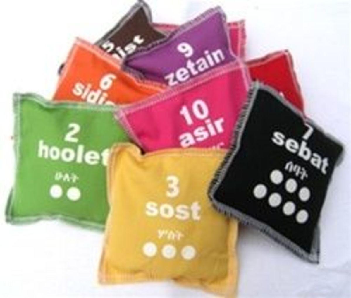 Amharic Bean Bag Learning tools