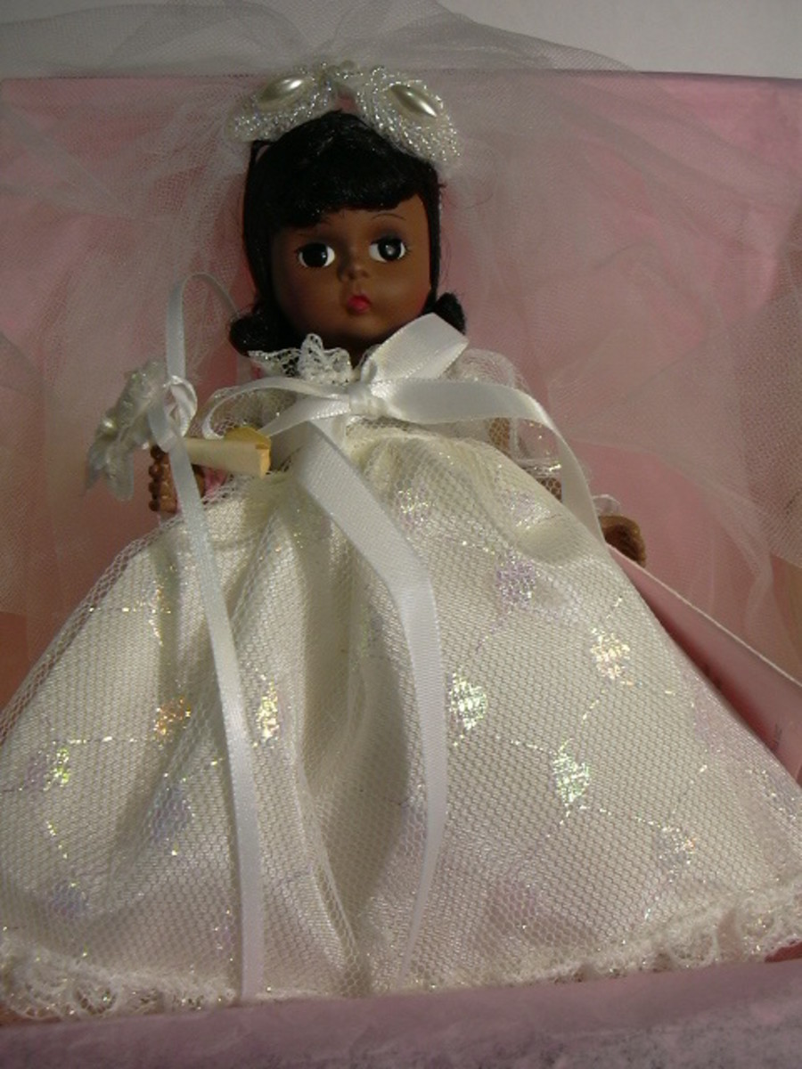 "8"" African American Bride Doll"
