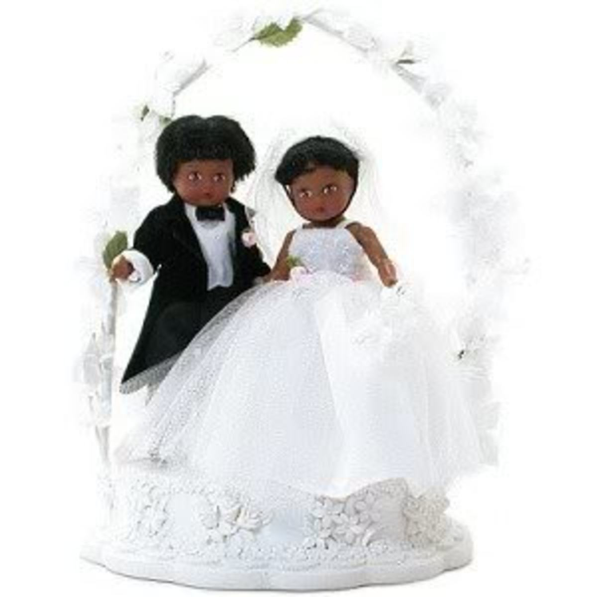 Madame Alexander African American Cake Topper