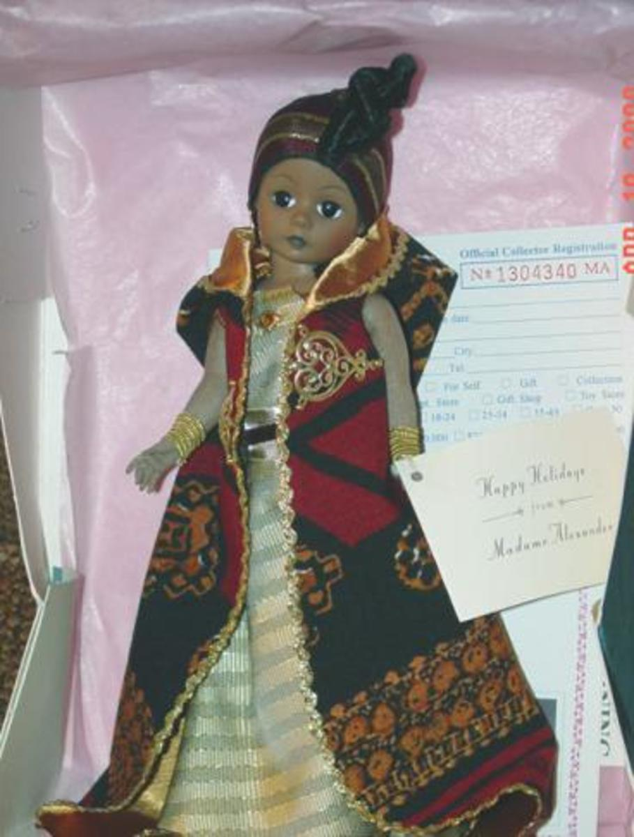 "Madame Alexander Kawanzaa Doll - 10""  Selling for $105.00"