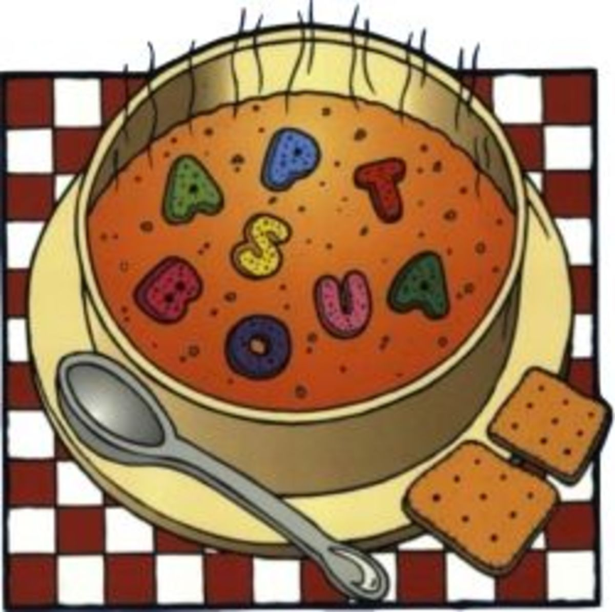 Photo is a detail from Alphabet Soup: Language Arts Enrichment Activities, available below.