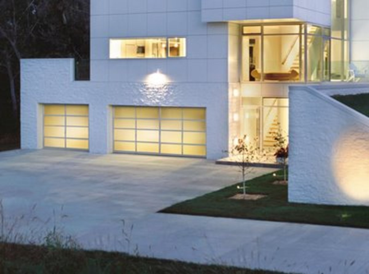 modern glass garage doors and entrance doors