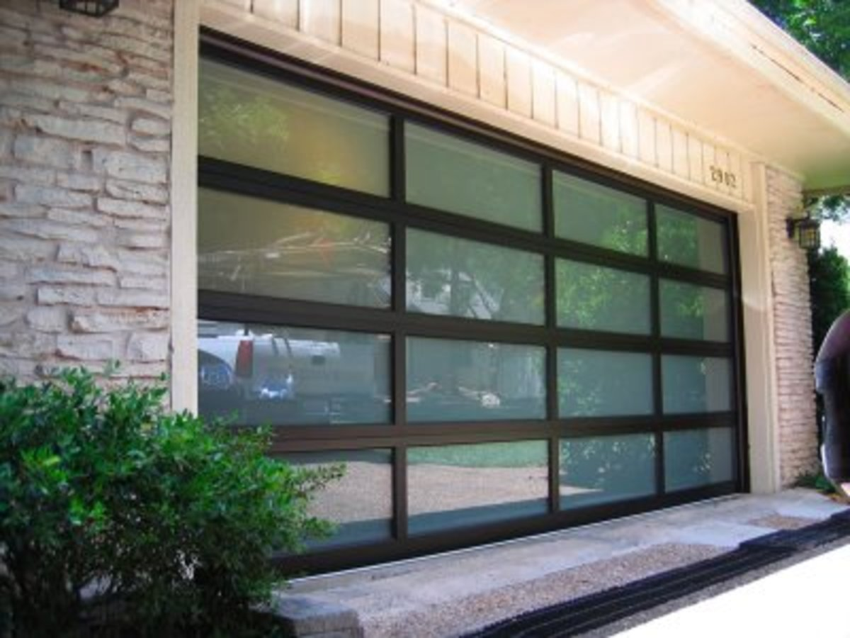 Black Onodized Door with glass inserts