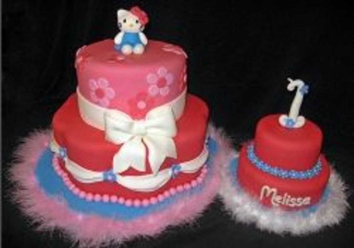 Photo and Hello Kitty Cake by Stacie, Whimsy Cakes