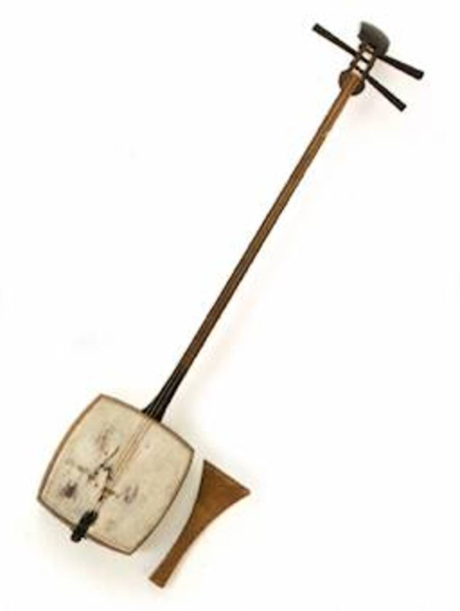 Traditional Japanese Shamisen