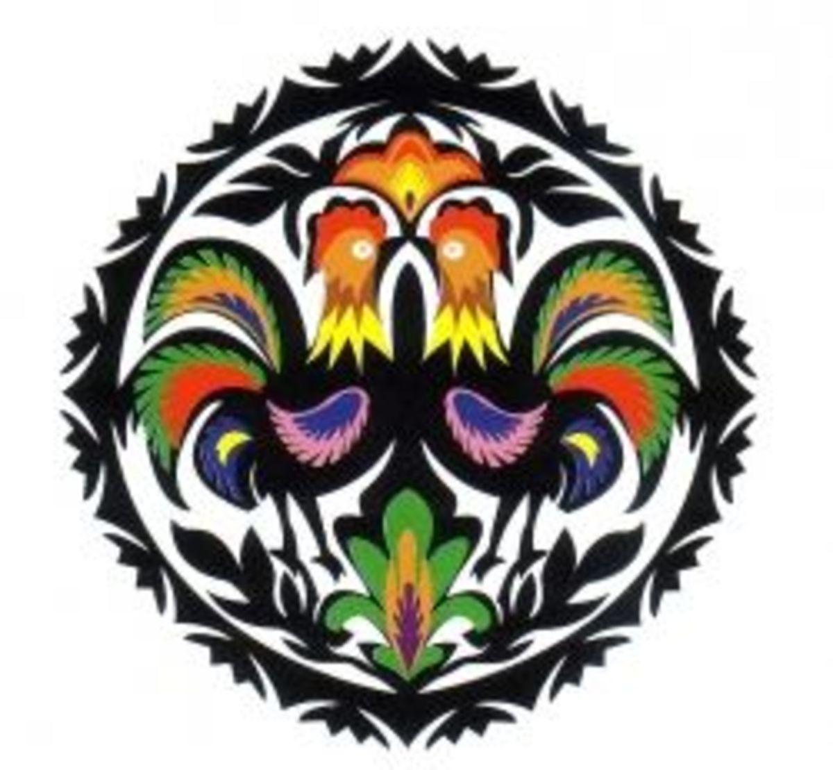 Multicolored Gwiazda Design with 2 Repeats