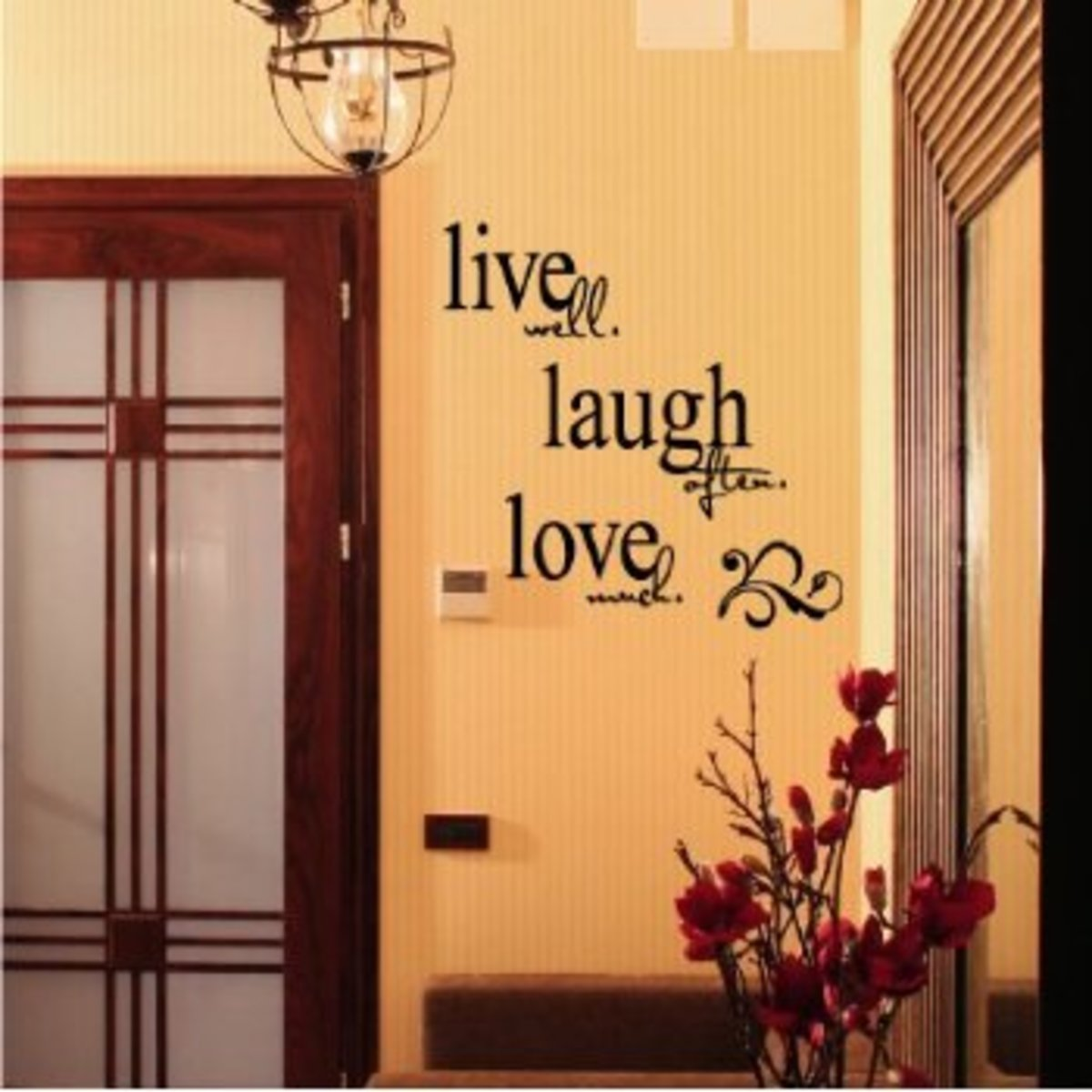 live laugh love wall d cor from wall decals to hanging picture frames hubpages. Black Bedroom Furniture Sets. Home Design Ideas