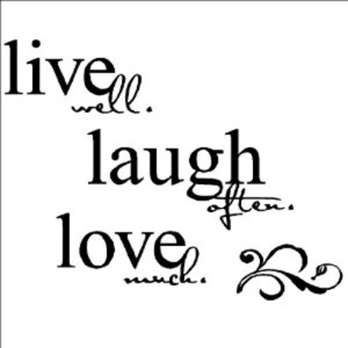 Wall decor live laugh love interior decorating for Live laugh love wall art