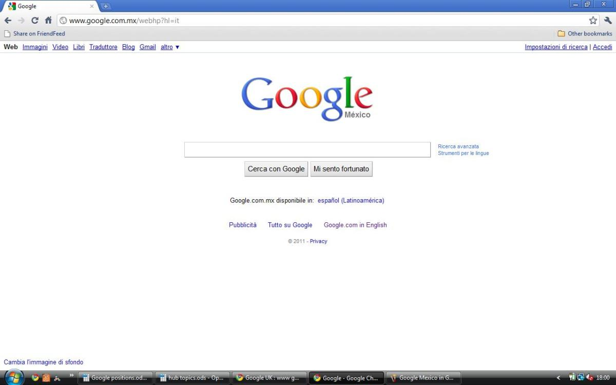 Google Mex in Italian