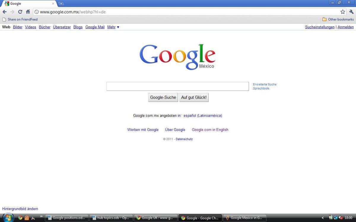 Google Mex in German