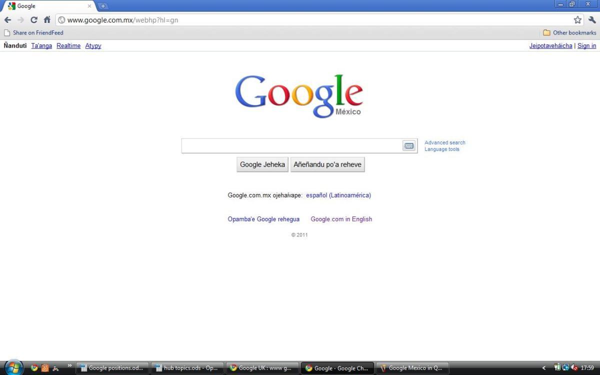 Google Mexico in Guarani