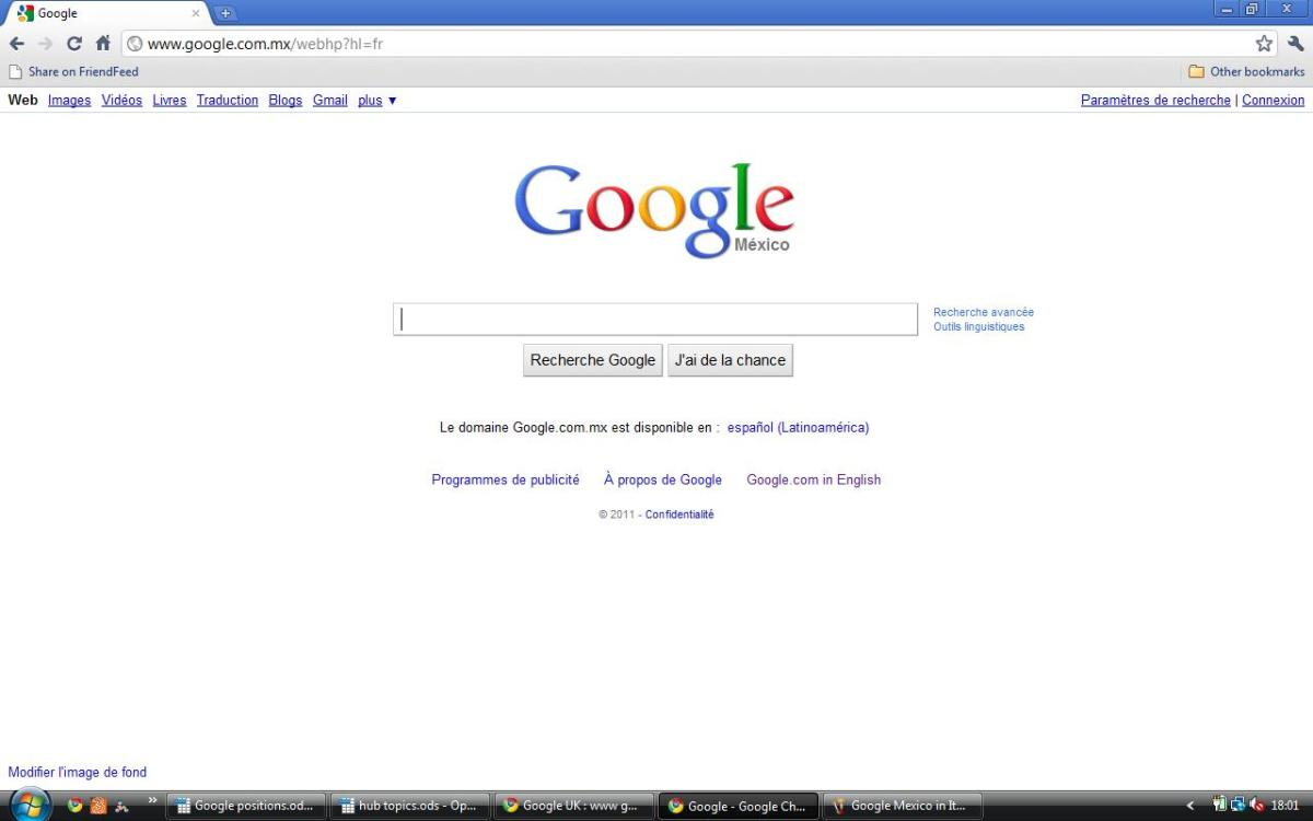 Google MX in French
