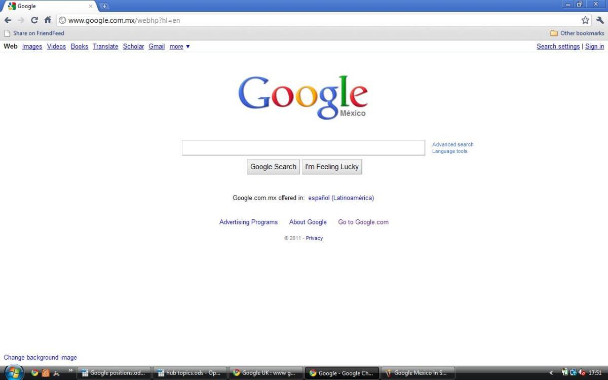 Google Mex in English