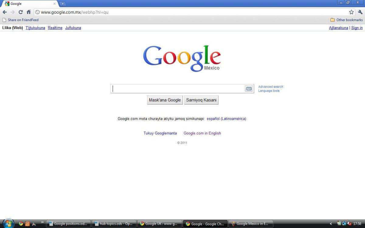 Google Mexico in Quechua