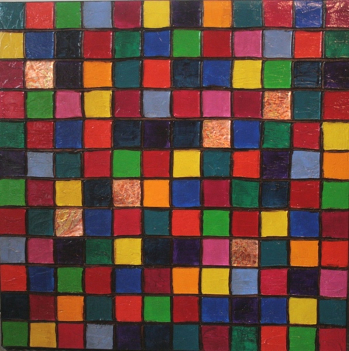 This is from my popular squares series. These sell well but I make sure that each one of them is unique and handfinished so that the client is getting an original painting.
