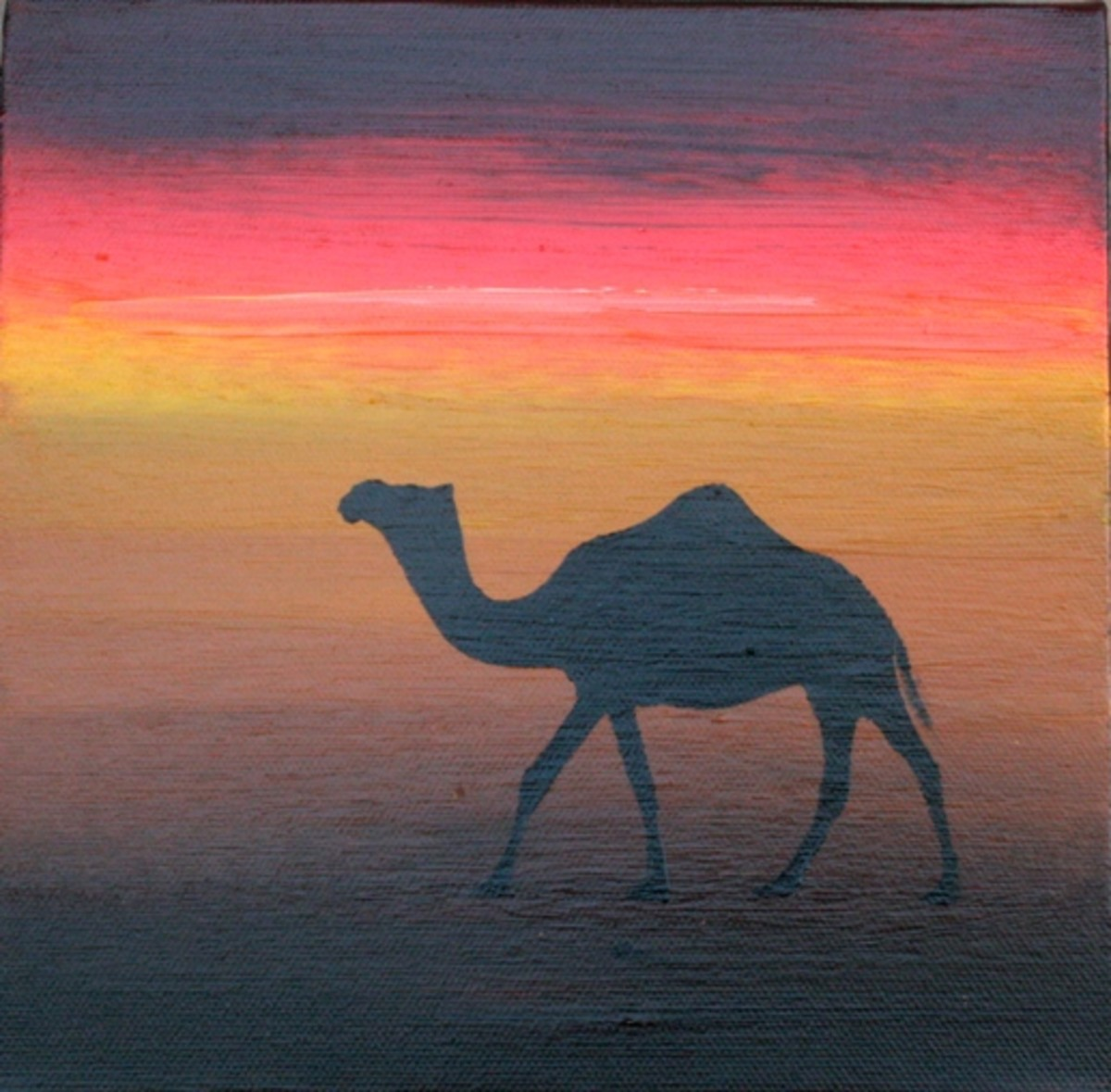 These camel paintings are very popular with tourists in particular and as gifts for people as they are a reminder of the area they were bought.