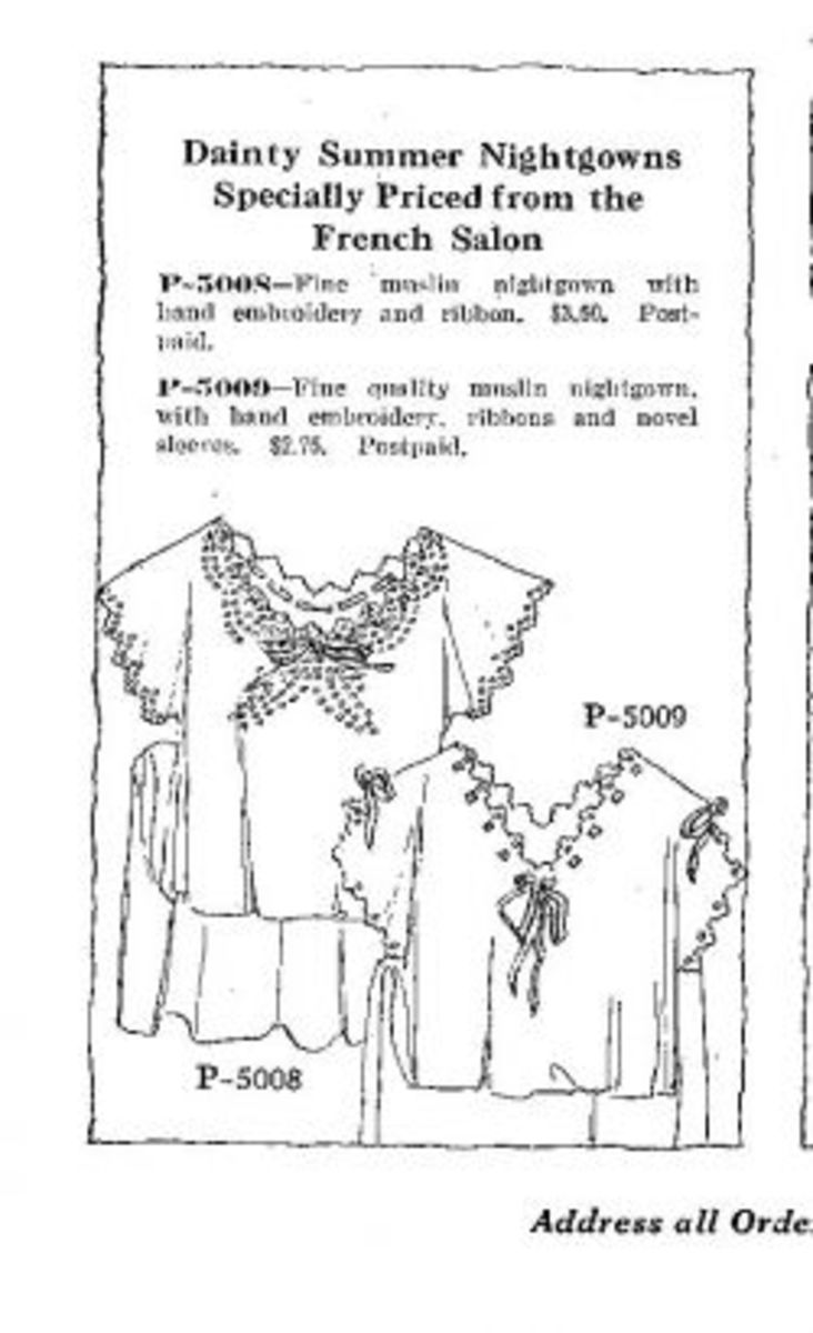 1918 nightgowns clothing