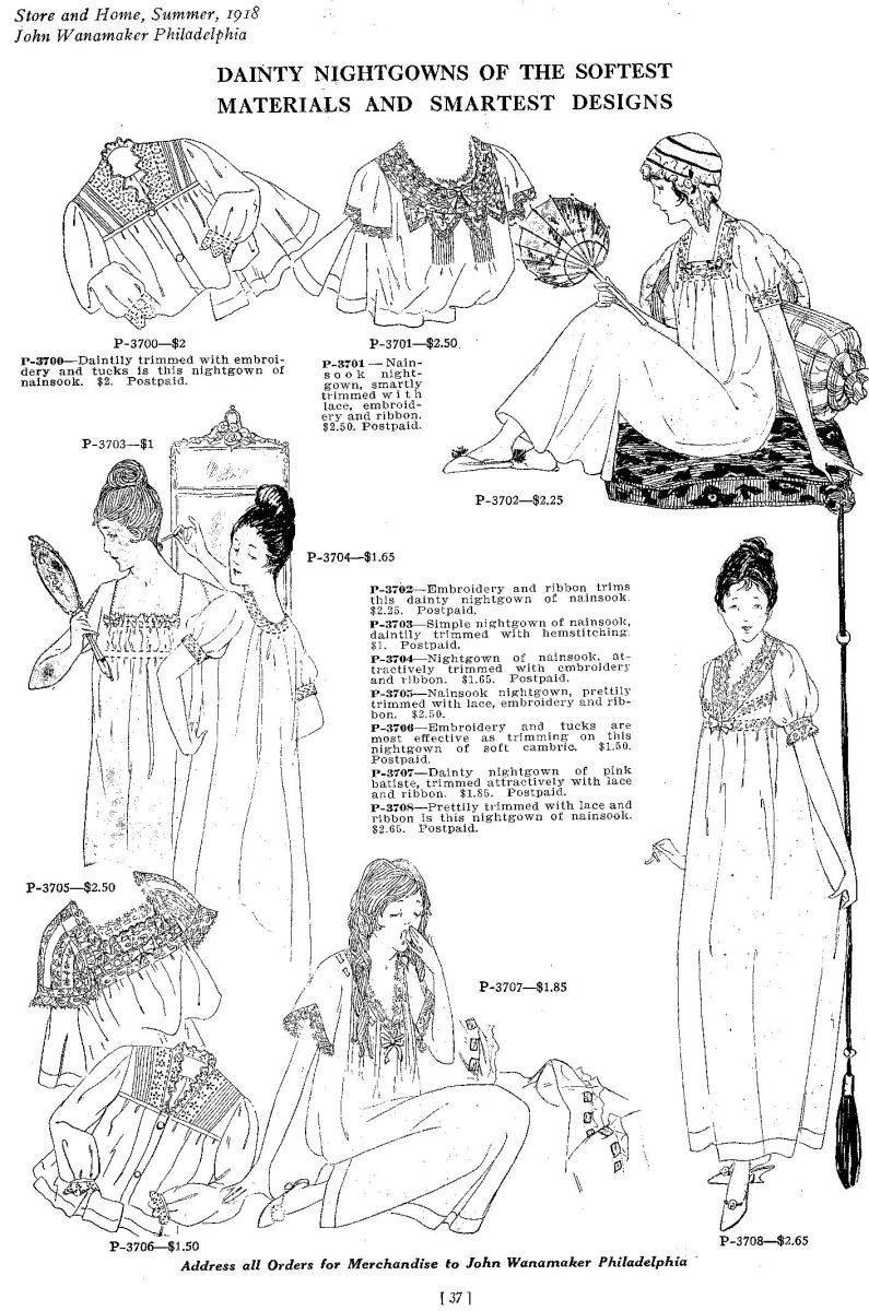 1918 nightgowns