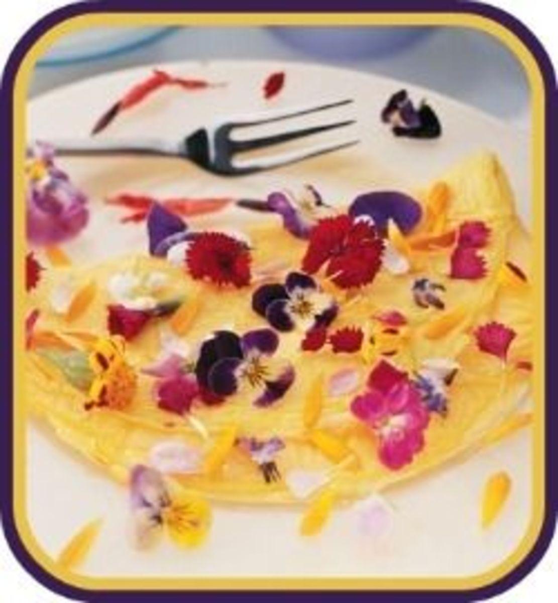 Flower Pansy Omelete
