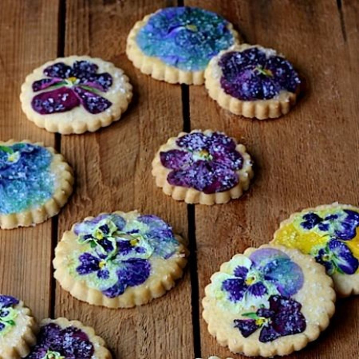 Another Pansy Shortbread Cookie Recipe