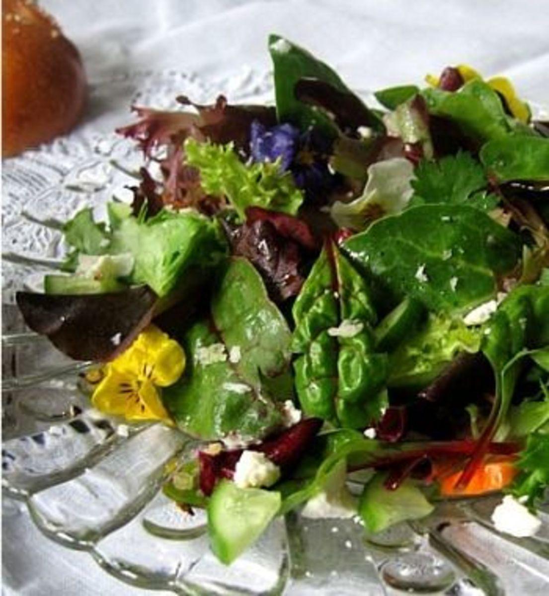 Pansy Spring Salad