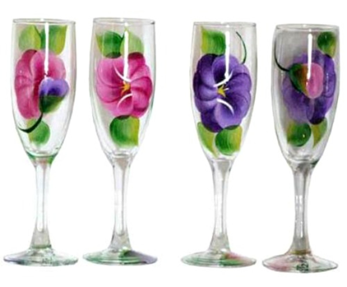 Go to the next level and serve your cocktails in these fabulous hand painted pansy glasses then garnish with fresh pansies!
