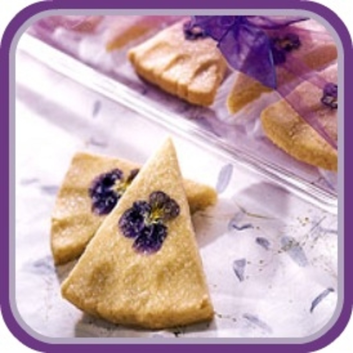 Pansy Shortbread Wedges