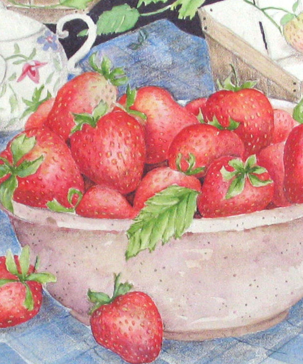 Strawberries make a good subject for learning to observe.
