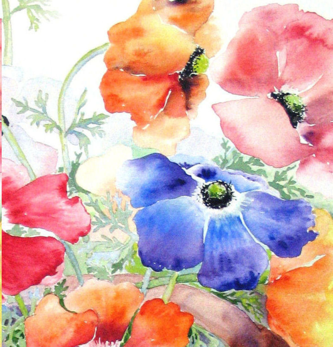 DON'T BE AFRAID TO PAINT WITH WATERCOLORS Try this exercize.