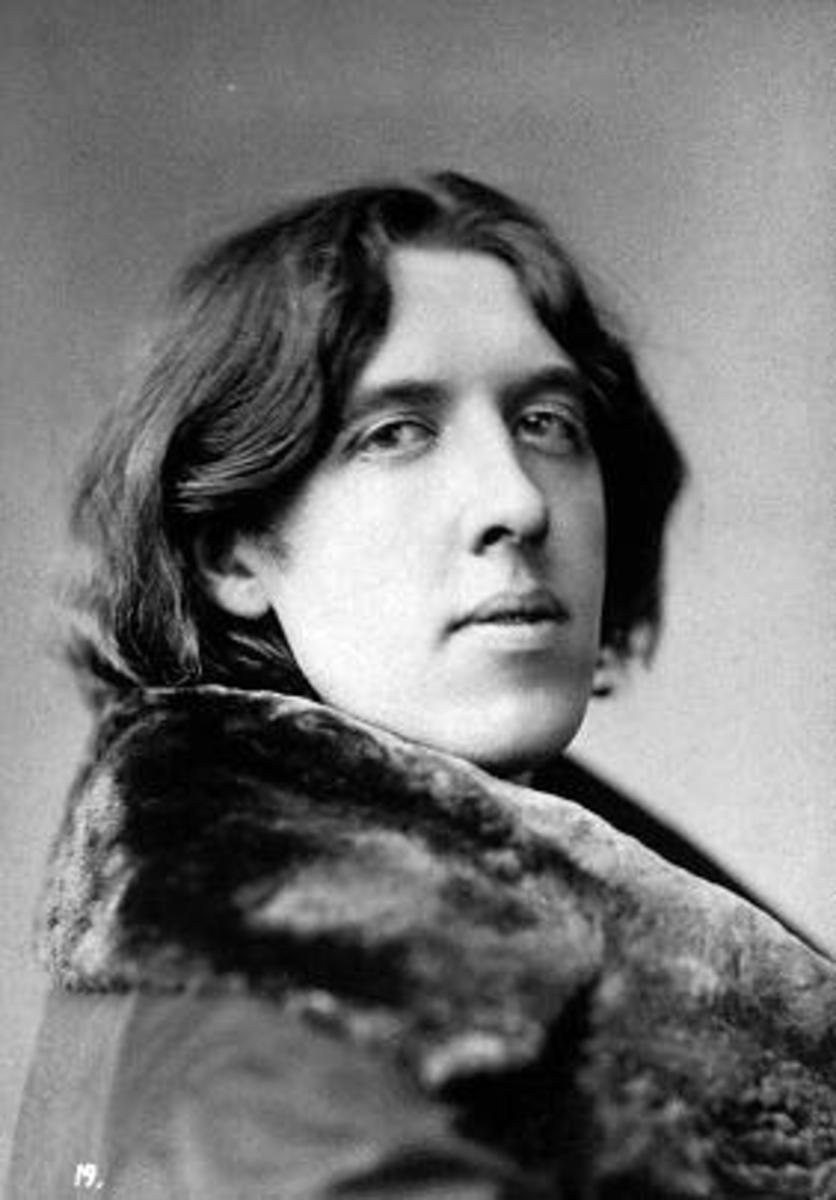 Oscar Wilde looking pensive  (1854-1900)
