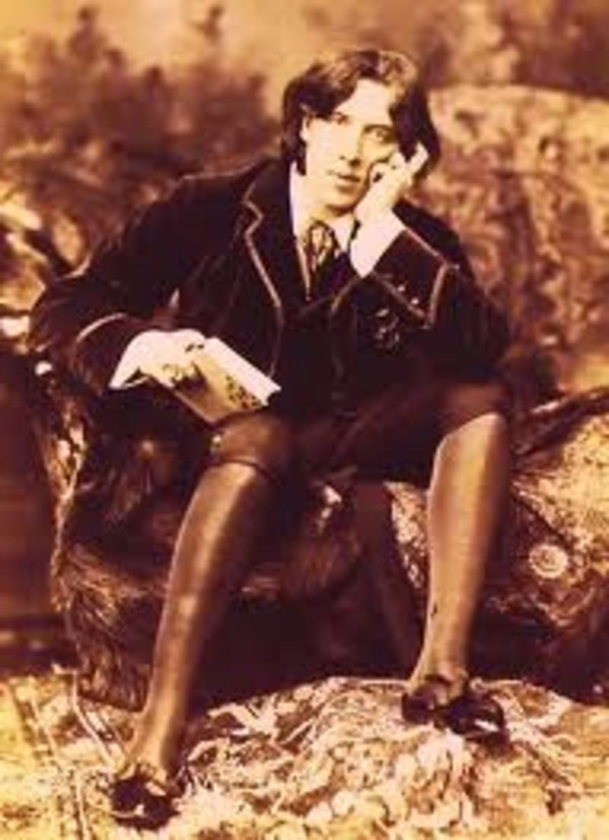 "Oscar during his ""silk stockings fashion"" period"