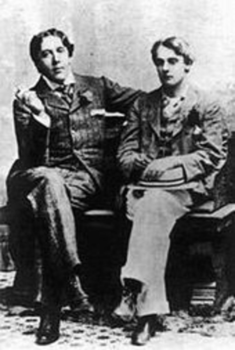 Oscar and Bosie in happier days (and nights)