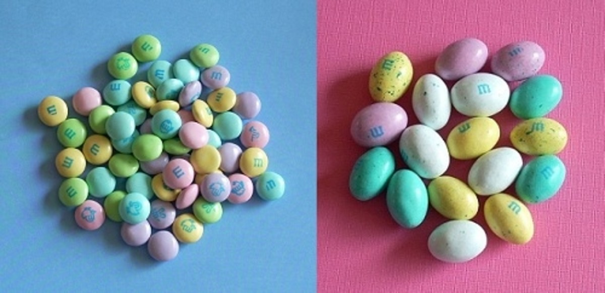Plain Easter M&Ms in 2 Shapes