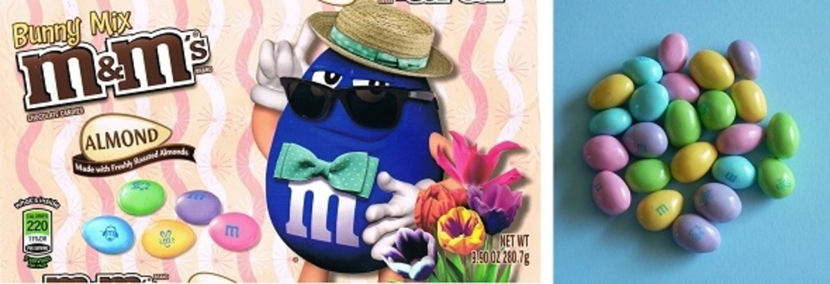 Almond Easter M&M's Bag and Candy