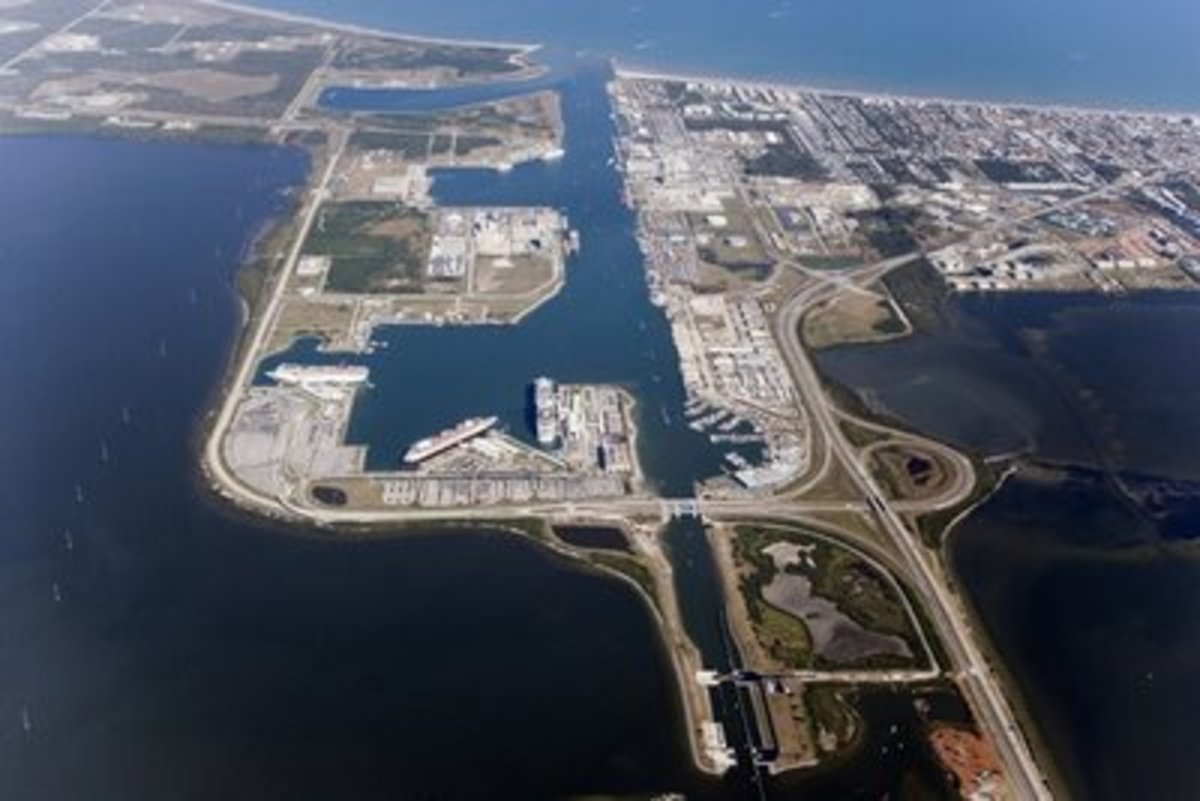 Aerial View Of Port Canaveral