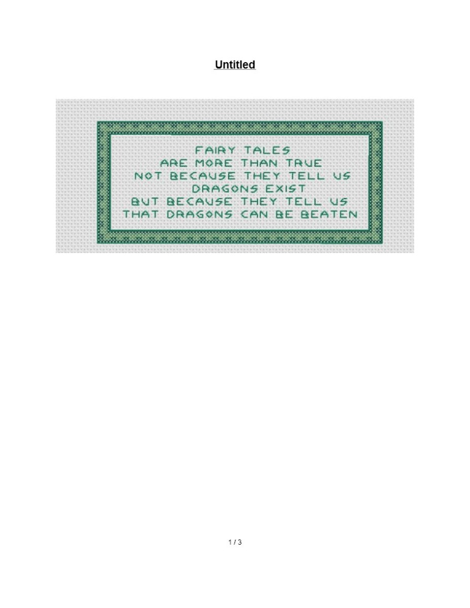 free cross stitch pattern inspirational quotes
