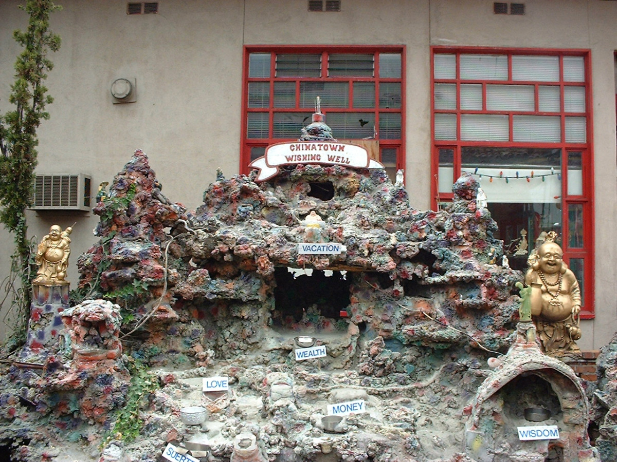 A (waterless) wishing well in Chinatown, Los Angeles